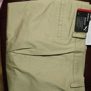 Mens tailored slim fit khaki golf pants